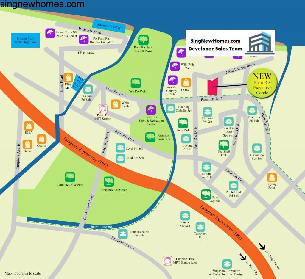 Pasir Ris EC Location Map