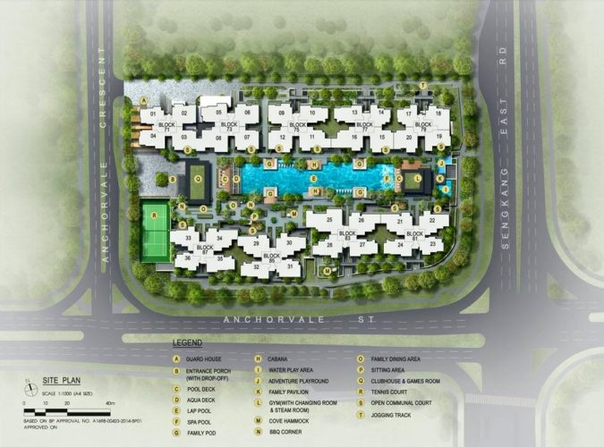 the vales ec siteplan