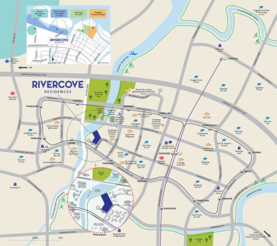 rivercove residences ec showflat map