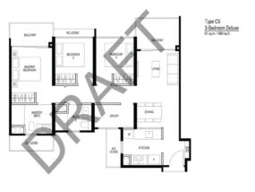 Le-Quest-Floor plan-3-Bedroom