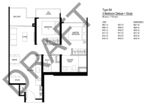 le-quest floor plan 2 bedroom