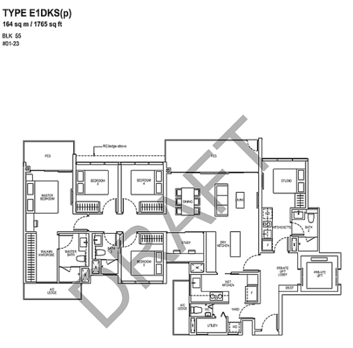 TAPESTRY SHOWFLAT floor plan