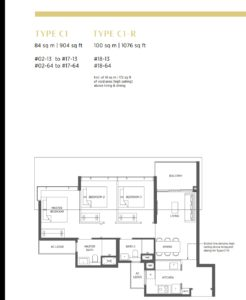 PARC ESTA FLOOR PLAN 3 BEDROOM