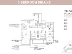 PIERMONT GRAND EC 3 bedroom deluxe floorplan