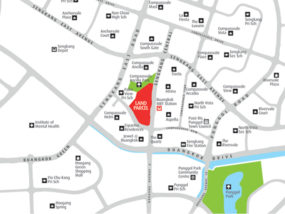 SENGKANG CENTRAL RESIDENCES SHOWFLAT map