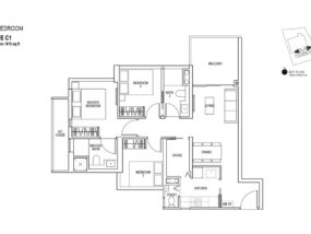 Sky-Everton-showflat Floor-Plan-3-Bedroom