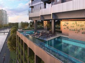Jui Residences Freehold condo pool view