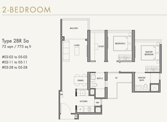 parc botannia floor plan 2 bedroom study